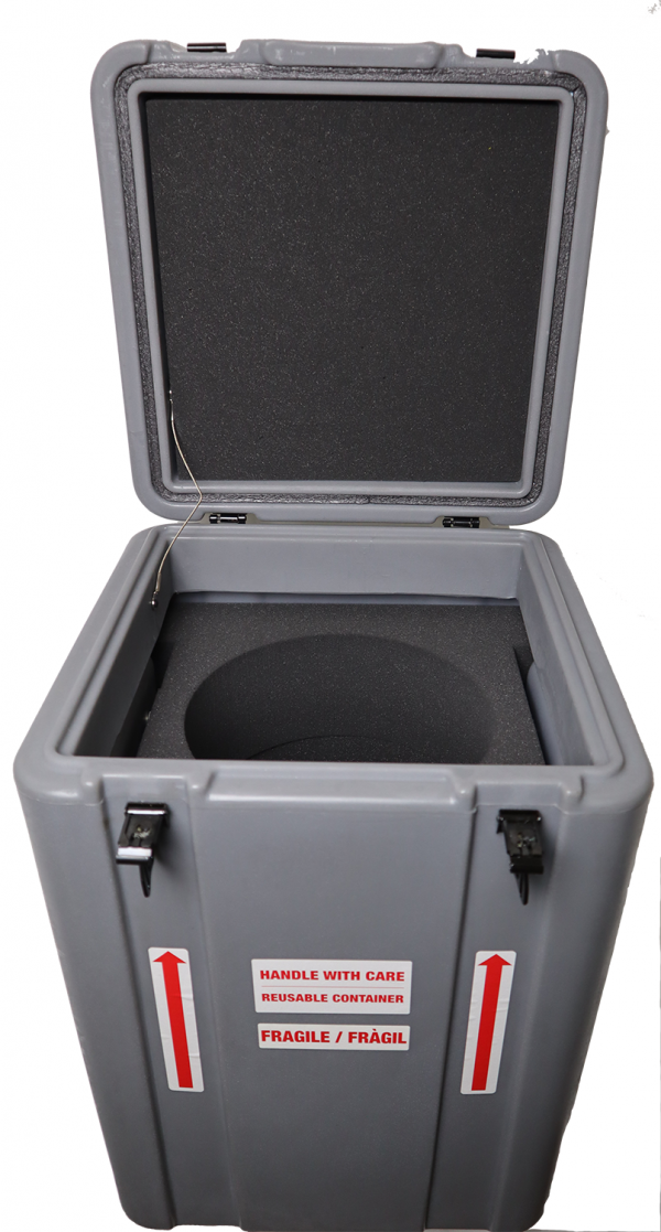 CX100 Hard Shell Square Grey Shipping Case